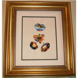 14LA LangdonArt original painting for wall at home or office planets imagination - planètes peinture