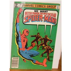 Peter Parker Spider-Man Vol 1 #59 Oct 1981 comic book Near Mint or Mint - bande dessinée
