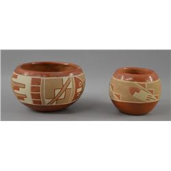 SAN JUAN INDIAN POTTERY BOWLS (REYCITA GARCIA AND GRIGORITA TRUJILO)