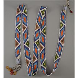 WINNEBAGO INDIAN BEADED HAIR DROP