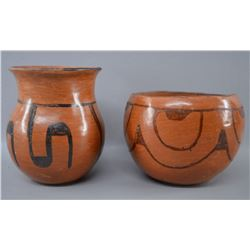 MARICOPA INDIAN POTTERY JARS
