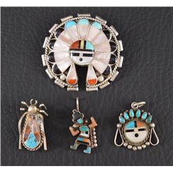 ZUNI INDIAN PINS AND PENDANTS