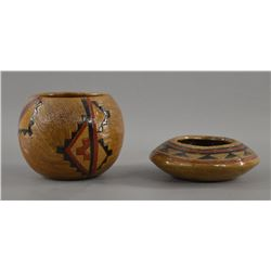NAVAJO INDIAN POTTERY VASE AND BOWL
