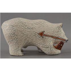 ZUNI INDIAN POTTERY BEAR (VALARIE KALESTEWA)