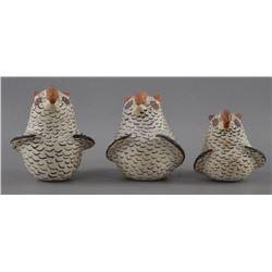 ZUNI INDIAN POTTERY OWLS (JENNIE LAATE)
