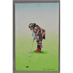 NAVAJO INDIAN PAINTING (BRUCE WATCHMAN)