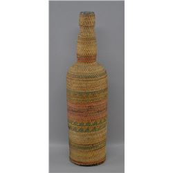 NORTH WEST COAST/MAKAH INDIAN BASKETRY BOTTLE
