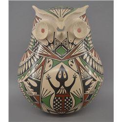 MATA ORTIZ INDIAN POTTERY OWL