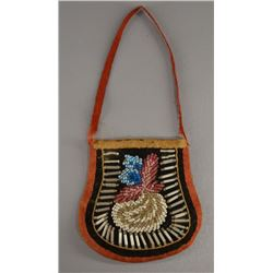 IROQUOIS INDIAN BEADED POUCH