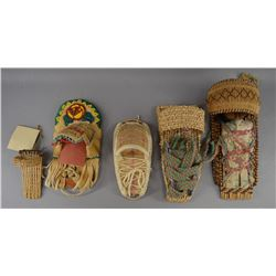 PAIUTE INDIAN  TOY BASKETRY CRADLES