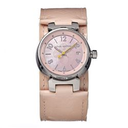 Lois Vuitton Vernis Leather Band Watch