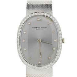 Vintage Audemars Piguet 18k White Gold Diamond Manual Watch