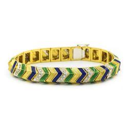 Art Deco Gold/Diamond Bracelet