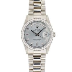 Rolex Diamond Dial & Bezel President Watch