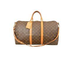 Louis Vuitton Monogram Keepall Bandouliere  Duffel Bag