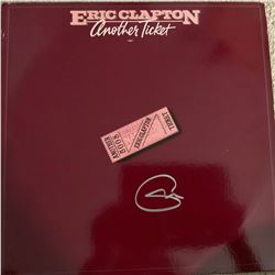 Signed Eric Clapton Another Ticket Album Cover