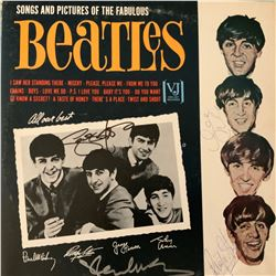 Signed Beatles Songs And Pictures Of The Fabulous Beatles Album Cover