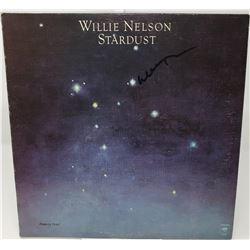 Signed Willie Nelson Stardust Album Cover