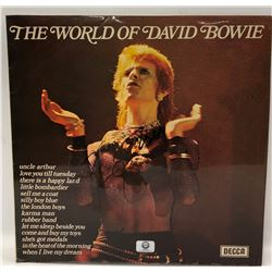 "Signed David Bowie, ""The World Of David Bowie"" Album Cover"