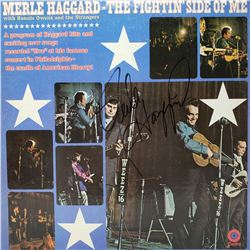 Signed Merle Haggard, The Fight Inside Of Me Album Cover
