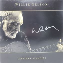 Willie Nelson Signed Last Man Standing Album Cover