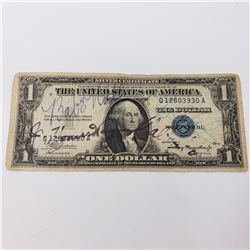 1935 Babe Ruth, Ty Cobb and Honus Wagner Signed Silver Certificate