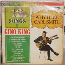 LP used record 33 Gino King Why I like Carl Smith in English - en anglais utilisé