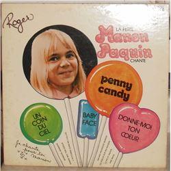 RARE Vinyl LP used record 33 La Petite Fille Manon Paquin  in French - en Français, disque utilisé
