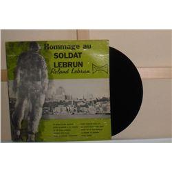 Old LP record in French Hommage au Soldat Lebrun en Francais 33 disque vieux