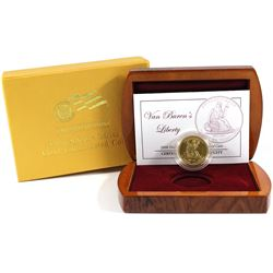 2008-W USA First Spouse Van Buren's Liberty 1/2oz .9999 Fine Gold Proof Coin in Deluxe Display Case