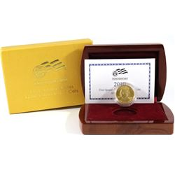 2010-W USA First Spouse Abigail Fillmore 1/2oz .9999 Fine Gold Proof Coin in Deluxe Display Case wit