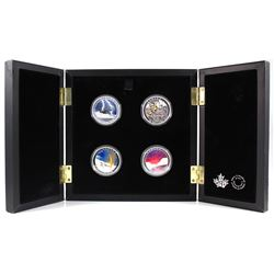 2015-2017 Canada $20 Weather Phenomenon 4-Coin Fine Silver Set in Deluxe Case (TAX Exempt).