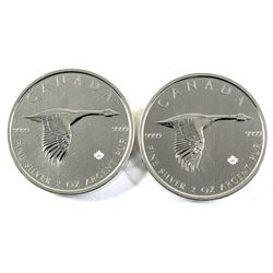 Popular and Sold Out! 2020 Canada 2oz 1967 Goose Design .9999 Fine Silver Coins. These bullion coins