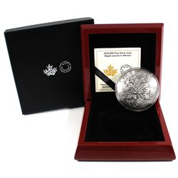 2018 Canada $50 Maple Leaves in Motion 5oz Antiqued Curved Fine Silver Coin (TAX Exempt).