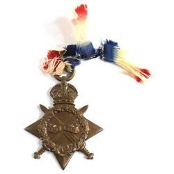 1914-15 WWI Star Medal Issued to Pte. R. Stewart, R. Lanc. R.