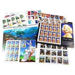 Estate Lot of USA MNH Stamps with $50 Face Value. You will receive mostly full sheets with a couple