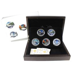 2016 Canada $20 Geometry In Art 5-coin Fine Silver Set in Deluxe Box (TAX Exempt).