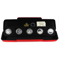 2015 $10 Adventure Canada 5-coin Fine Silver Set in Special Display Box (TAX Exempt).