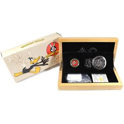 2015 Canada $100 Looney Tunes Bugs Bunny & Friends 14K Gold Coin & Pocket Watch.