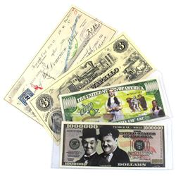 Estate Lot of Various Novelty Notes. You will receive 1 Million Dollars The Wizard of Oz, 1 Million
