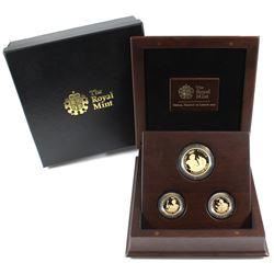 Great Britain 2012 London Olympiad Citius, Altius, Fortius 3-coin 22K Gold Commemorative Set in beau