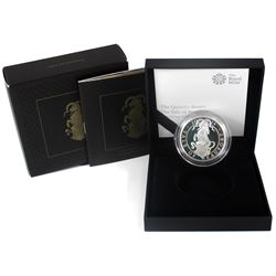 United Kingdom 2019 2-Pound The Queens Beasts - Yale of Beaufort 1oz Fine Silver Proof (TAX Exempt).