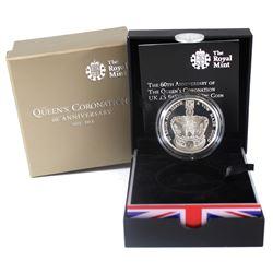 United Kingdom 2013 5-Pound the 60th Anniversary of the Queen's Coronation Silver Piedfort Coin. Ple