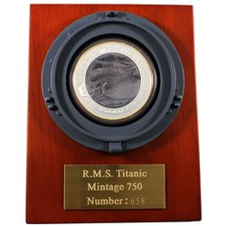 2012 Fiji $50 'Mother of Pearl' 100th Anniversary of the Titanic 5oz .999 Fine Silver Coin. The inne