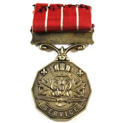 Canadian Forces Decoration George VI Issue. Named S/L W.H. Quinn.