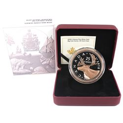 2018 Canada 25-cent Big Coin 5oz Rose-Gold Plated Fine Silver Coin (Tax Exempt).