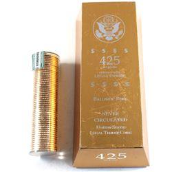 2008 USA Presidential Dollar Martin Van Buren Uncirculated Ballistic Roll of 50pcs in 425 Net Grams