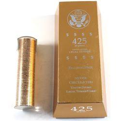 2008 USA Presidential Dollar John Quincy Adams Uncirculated Ballistic Roll of 50pcs in 425 Net Grams
