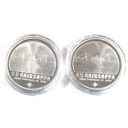 1oz Gairsoppa Shipwreck .999 Fine Silver Rounds in Capsules. 2pcs (TAX Exempt)