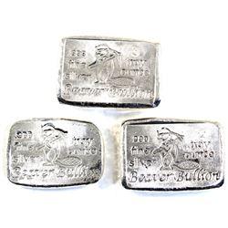 1oz, 2oz & 3oz Beaver Bullion .999 Fine Silver Poured Bars. 3pcs (TAX Exempt)